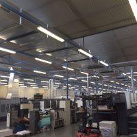 Climatizacion nave industrial con Roof Tops
